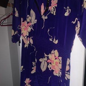 Yumi Kim Royal Blue Floral Dress